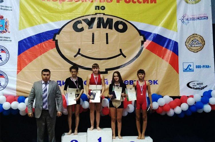 Приморские борцы сумо выиграли три золотые и одну бронзовую награды на Первенстве России