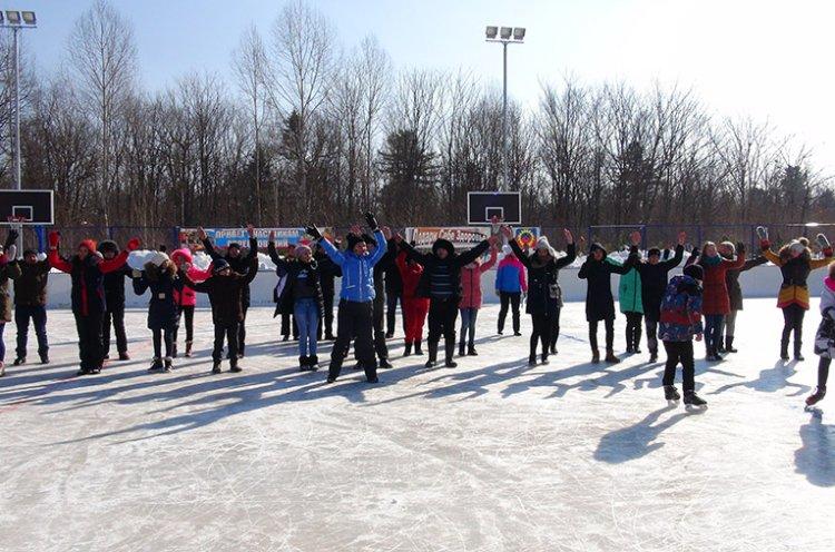 В селе Красный Яр Пожарского района открыли универсальную спортплощадку