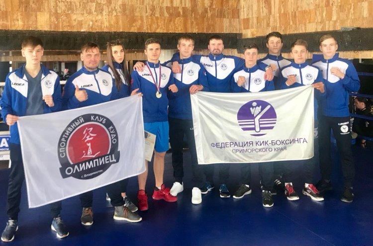 Приморские кикбоксеры завоевали серебряные медали на Чемпионате и Первенстве России