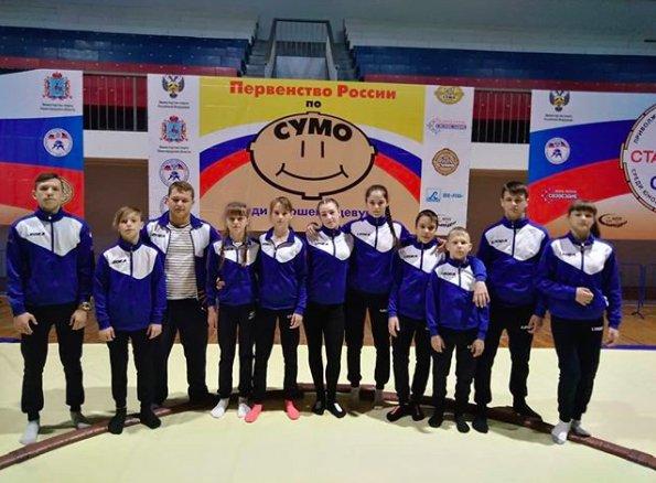 Борцы сумо из Приморья завоевали 11 медалей на Первенстве России