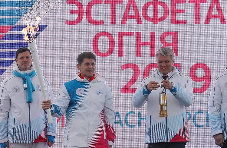 Олег Кожемяко: Эстафета огня Универсиады приближает Владивосток к статусу столицы ДФО