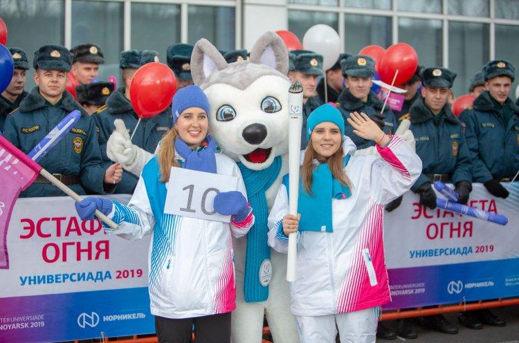 Этап Эстафеты огня Зимней универсиады-2019 прошел во Владивостоке