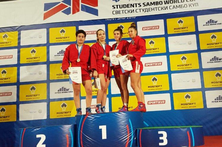 Приморская спортсменка выиграла «золото» Кубка мира по самбо среди студентов