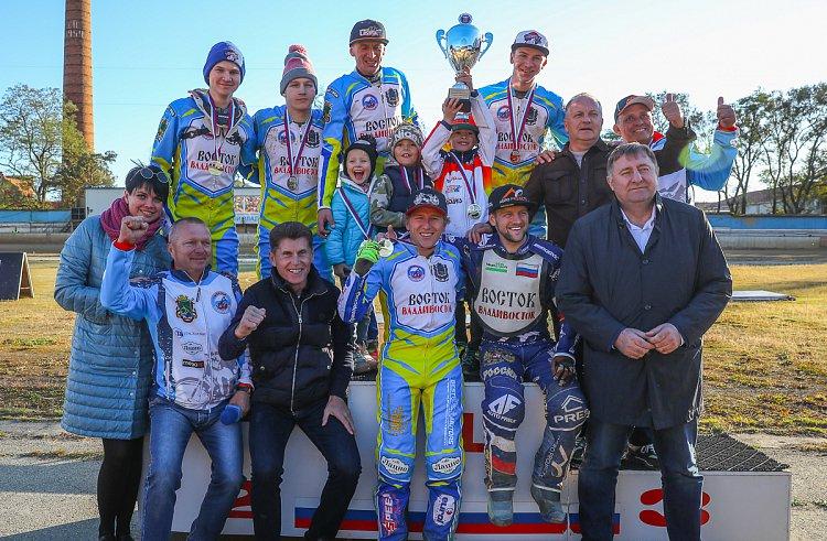 Приморская команда «Восток» вновь завоевала титул чемпиона России по спидвею