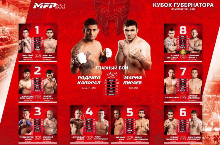 Известные приморские бойцы сразятся в международном турнире MFP во Владивостоке