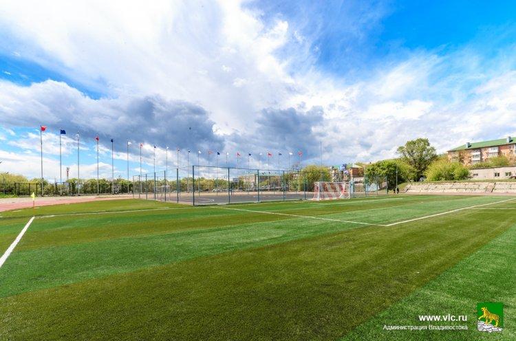 Стадион «Строитель» во Владивостоке готовят к тренировкам спортсменов