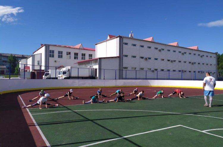Юные каратисты севера Приморья проводят тренировки