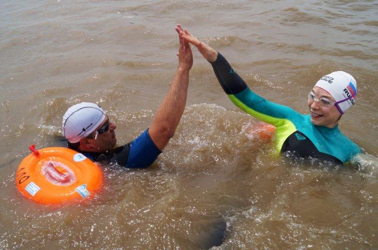 Приморские пловцы приняли участие в экологическом заплыве «За чистый Амур»