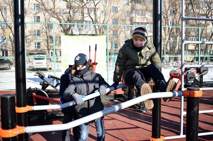 Площадку ГТО открыли в поселке Пограничный по нацпроекту
