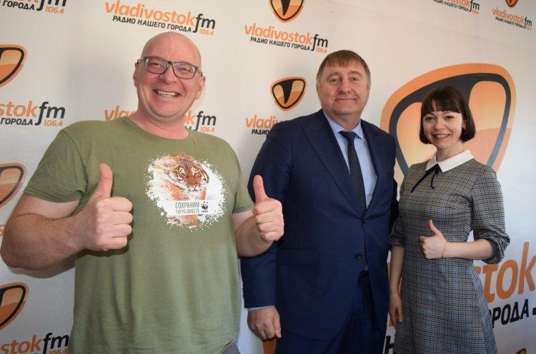 Министр спорта Приморья Жан Кузнецов стал гостем радиостанции Владивосток FM