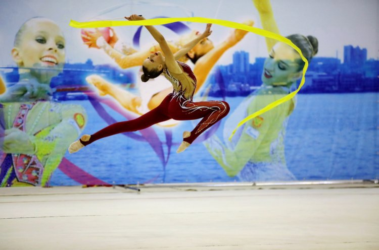 В спорткомплексе «Олимпиец» завершились соревнования по художественной гимнастике «Ника»
