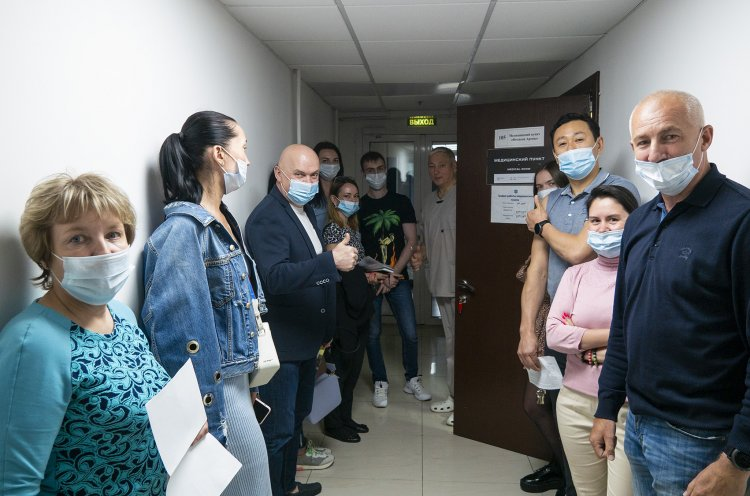 Сотрудники клуба «Адмирал» прошли вакцинацию от Covid-19