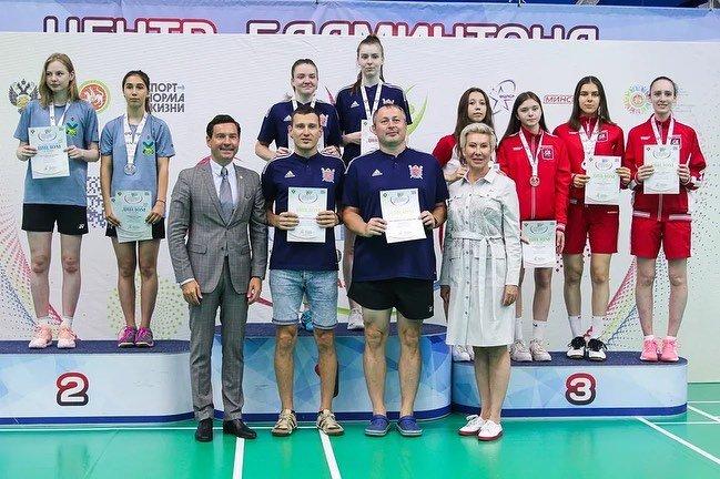 Две медали с финала Спартакиады молодежи России привезли приморские бадминтонистки