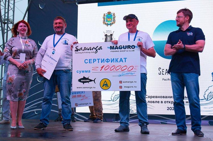 Более полутонны рыбы наловили участники соревнований «Открытое море»