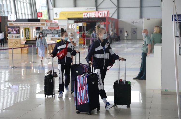Российские гимнастки и борцы отправились из Приморья на Олимпиаду в Токио